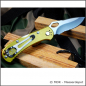 Preview: Buck knife - Spitfire with green aluminum handle scales