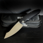 Preview: WE Knives Folder 617B D2 Stahl Satin finish G10 schwarz