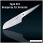 Preview: P529 - 3tlg. Messerset Santoku + Schälmesser + Tranchier Type 301