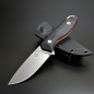 Preview: QSP Knives Toukan QS113 outdoor knife G10 black with liner orange