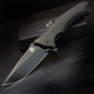 Mobile Preview: QSP-Knives STHENIA Folder 440C Stahl G10 schwarz beschichtet