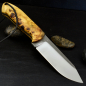 Preview: SK02 knife stab. grained poplar wood and handgf. Leather sheath Schanz