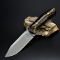 Preview: SK02 knife stab. Pine cones handgf. Leather sheath Schanz