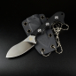 Preview: QS125-A Neckmuk neckknife design by Arthur Brehm G10 black with D2 steel