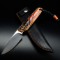 Preview: Bongo Arno Bernard Knives EDC knife with double-dyed kudu bones