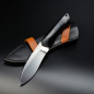 Preview: Matthias Leimküller Custom knife from Solingen with handle in G10 and liner in orange