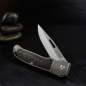 Preview: J.E. Made Knives - NYS New York Special Titanium Carbon Inlay without Clip S35VN