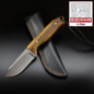 Preview: MDK - SK01 EDC knife produced by Jürgen Schanz with bocote wood handle