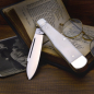Preview: Robert Klaas Pocket Knife - Men's Knife with Bone Handle Carbon Steel