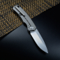 Mobile Preview: QSP Puffin German Edition Titanium Framelock Pocket Knife S35VN Steel in Stonewashed