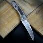 Preview: QSP Songbird Framelock Folder Titan mit CPM S35VN Stahl und Carboninlay