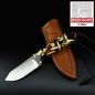 Preview: MDK - SK01 EDC knife Mammut pieces with high quality leather sheath SB1 steel