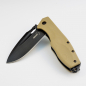 Preview: Böker Plus Caracal Folder Knife with G10 coated in Desert D2 blade black
