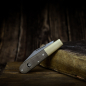 Mobile Preview: Barlow Expedition Böker Taschenmesser mit Micarta olive und gestrahltes Messing