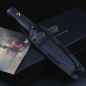 Preview: TRC Mille Couri tactical knife made of Vanadis 4E steel with DLC coating