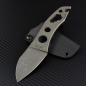 Preview: Kondrashov Knives - Cimmerian GRIP Neck Knife full stonewashed Kydex black N690 steel