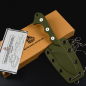 Preview: QS125-C Neckmuk Neck Knife by QSp Knives G10 green D2 steel design by Arthur Brehm