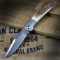 Preview: J.E. Made Knives - Lanny´s Clip Titan und Hirschhorn Half-Stop CPM S35VN