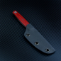 Preview: Heidi Blacksmith Custom Knife Steel 1.2235 G10 red incl. Kydex