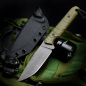 Preview: SK07-TAC: Great EDC knife in a slightly tactical style with G10 handle OD green and SB-1 steel