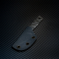 Preview: Heidi Blacksmith Custom Ganzstahl Messer Stahl O1 dark stonewashed incl. Kydex