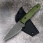 Preview: Forge Works Attender AEB-L steel cryo treatment handle G10 OD green custom knife
