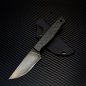 Preview: Heidi Blacksmith Custom Knife Steel 1.2235 Handle Material Carbon incl. Kydex