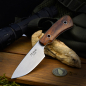 Preview: J.E. Made Knives - B.U.K. Neckknife CPM-3V Stahl Wüsteneisenholz
