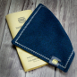 Mobile Preview: RMC Classic Line - Real men carry ... EDC Hank petrol/blue gesprenkelt Punkte 20x20cm Taschentuch