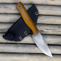 Preview: SK05 Harpoon - 100% Custom Messer 1.2235 Carbonstahl mit Canvas natural im Dirty look incl. MDK Kydex