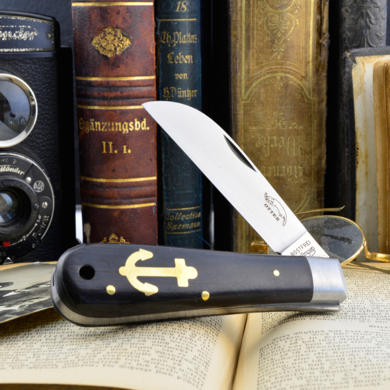 Otter anchor knife small 174 ML grenadil wood stainless/carbon with hole