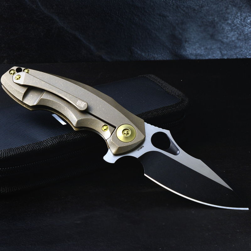 WE Knives Folder 605L Bronze CPM-S35VN Titanium Handle