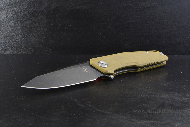 STEDEMON Droppoint ZKC-C02 Folder desert mit 440C dark stonewashed
