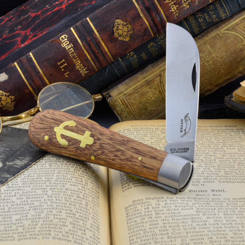 Otter Anchorknife wit carbon steel blade and Sapeliwood