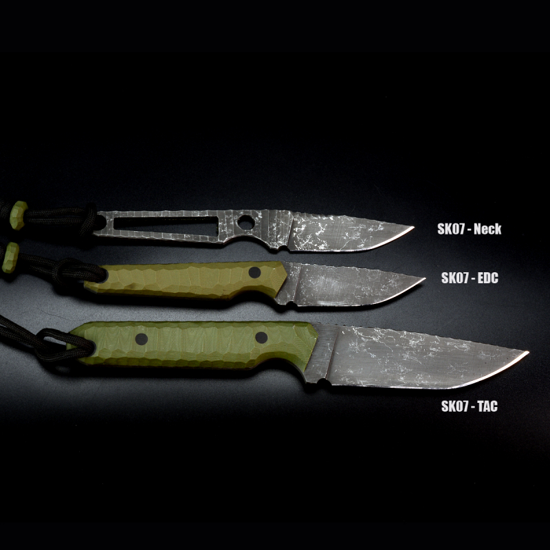 SK07-TAC: Great EDC knife in a slightly tactical style with G10 handle OD green and SB-1 steel