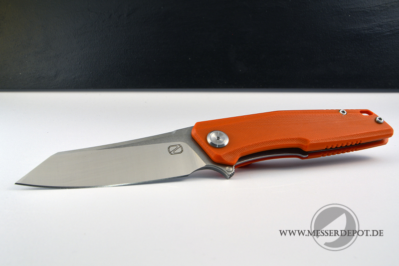 STEDEMON TANTO ZKC-C02 Folder orange mit 440C satin Klinge