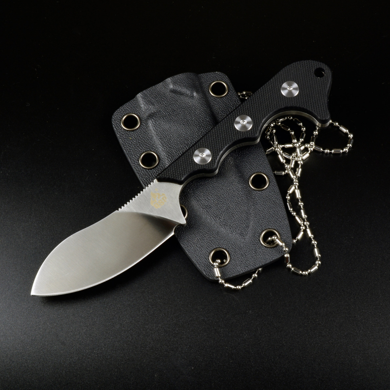 QS125-A Neckmuk neckknife design by Arthur Brehm G10 black with D2 steel
