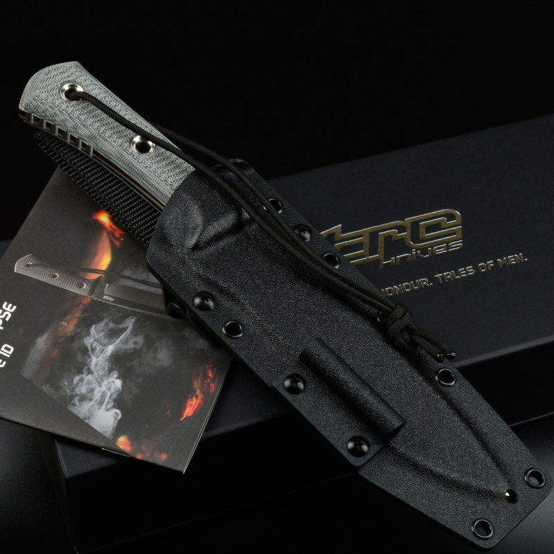 TRC Knives Apocalypse-L ELMAX 6,5mm Canvas schwarz Kydex