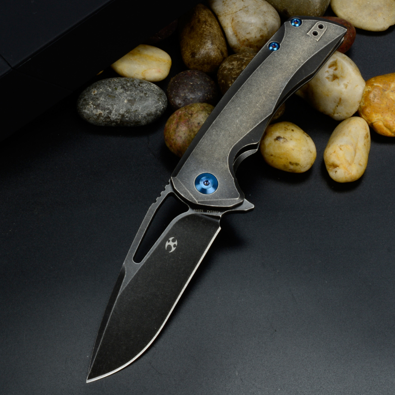 Kryo black by Kansept Knives Titan Folder with stonewashed large version