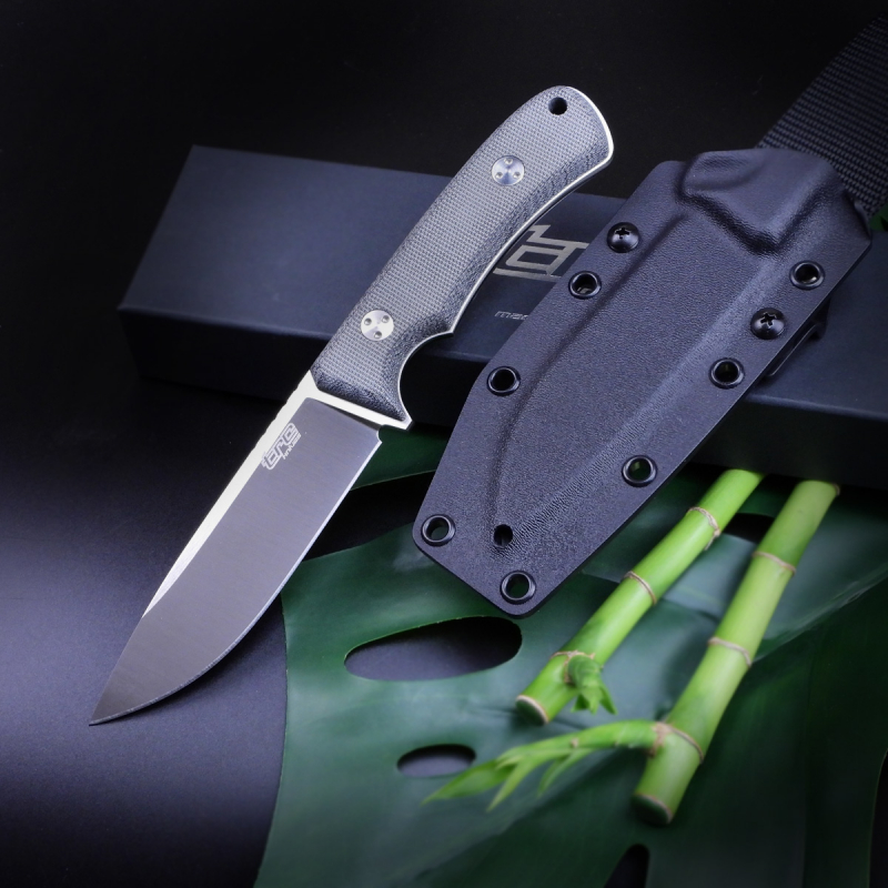 SOLD OUT - TRC Knives K1 Knife ELMAX Satin Blade Canvas black