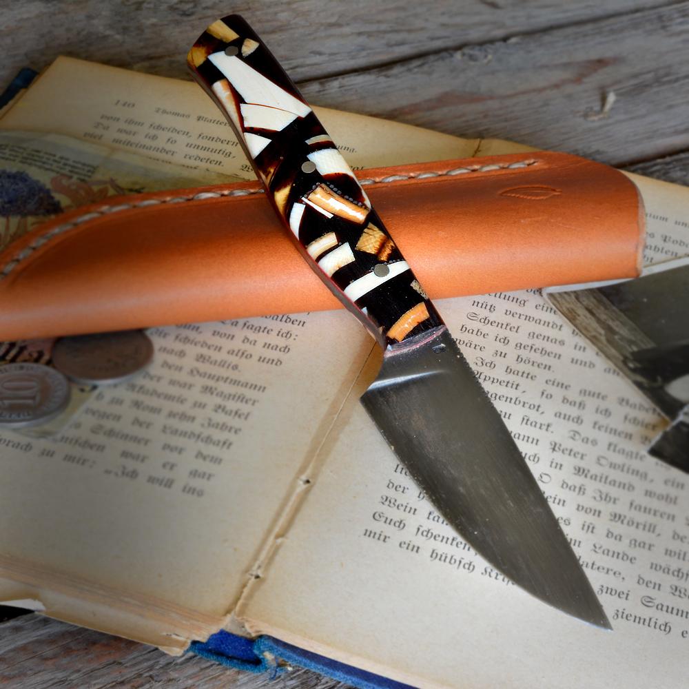 MDK Messerdepot - Heidi Blacksmith Custom Knife Stabilized