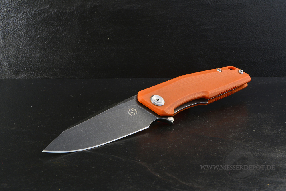 STEDEMON Droppoint ZKC-C02 Folder orange mit 440C dark stonewashed