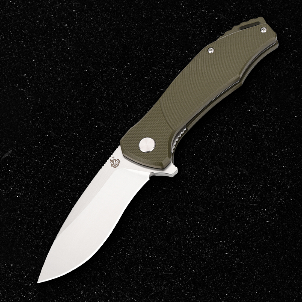 QS122-B Raven Folder von QSP Knives G10 green D2