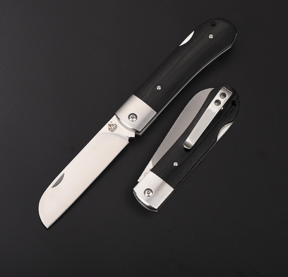Arthur Brehm WORKER Pocket Knife by QSP Knives in G10 black