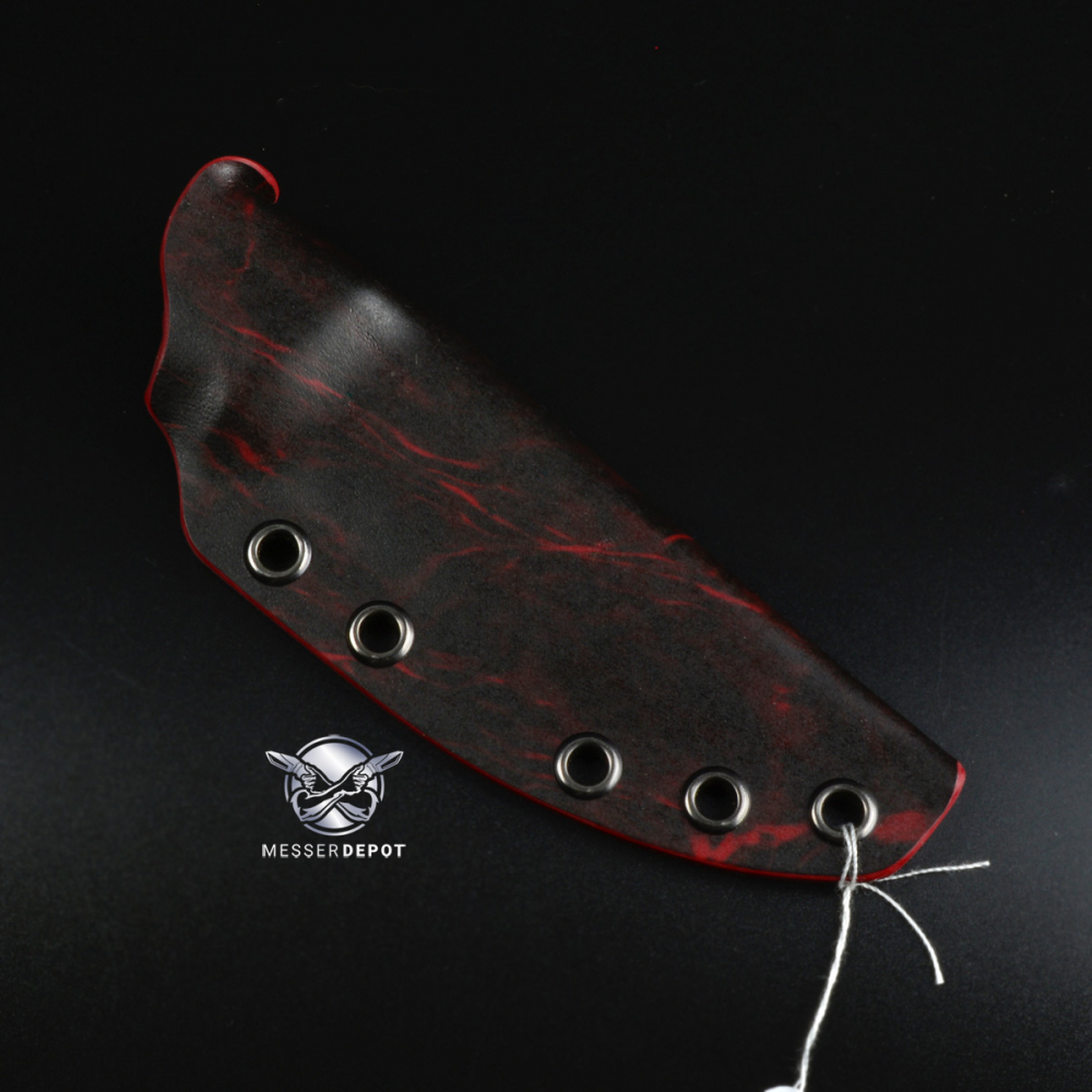 Custom Kydex | Kydex sheath for F1 | Aqua Blood | Gunmetal Eyelets | Suitable for large Teklok