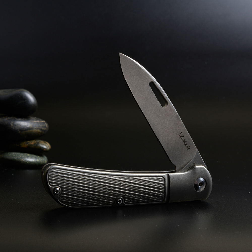 J.E. Made Knives - Zulu Titan Slipjoint Messer mit Clip CPM S35VN