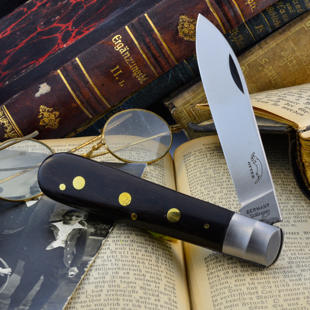 Otter 3-rivet pocket knife stainless or C75 carbon
