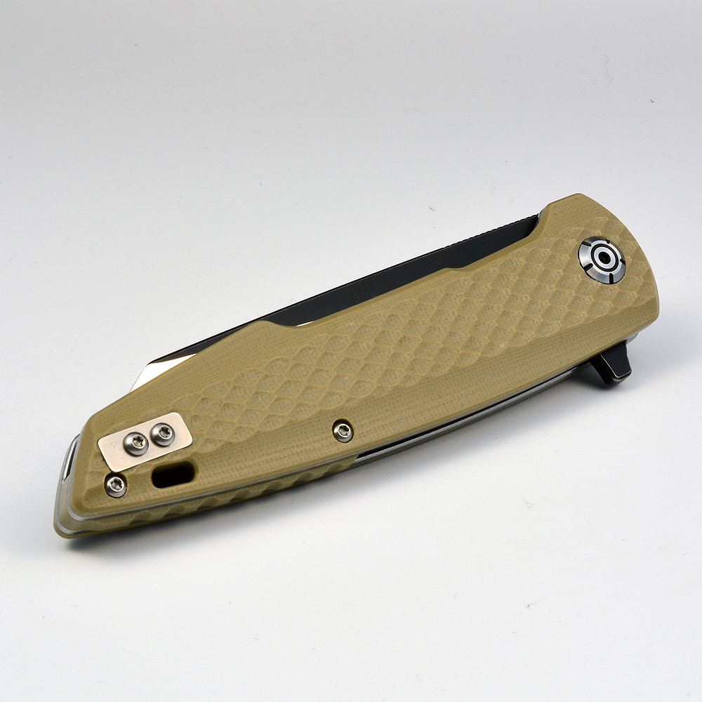"QSP knife 108A folder ""Phoenix"" D2 steel G10 desert"