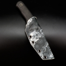 Custom Kydex sheath for Linder Super Edge 1 | Skull | Gunmetal eyelets | For big teklok