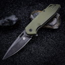 QSP Knives QS103C Shark stonewashed G10 green folder